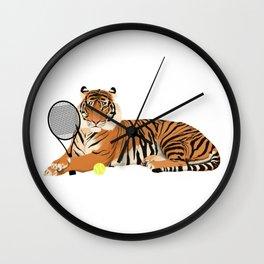 Tennis Tiger Wall Clock