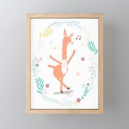 Llama Boogie Framed Mini Art Print