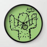 hug Wall Clocks featuring Hug? by UNDeRT4keR