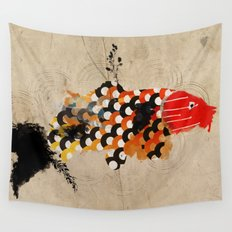 carp_koi_ink Wall Tapestry
