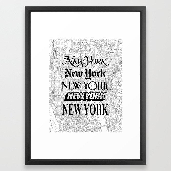 New York City Black And White Poster I Love Heart Nyc Design Home Wall Decor Framed Art Print By Themotivatedtype Society6