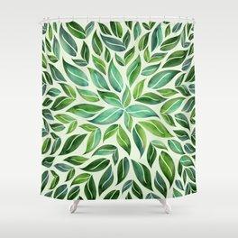 Spring Leaf Mandala Shower Curtain