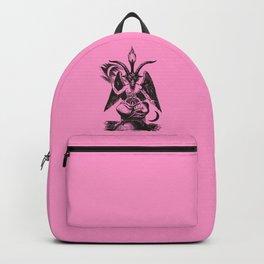 Black and Pink Baphomet Backpack