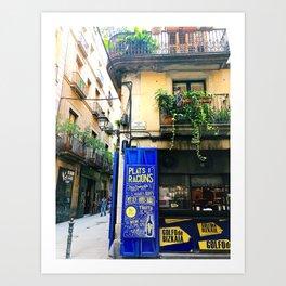 Barcelona corners Art Print