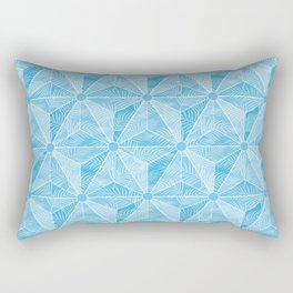 Geodesic Palm_Blue Sky Rectangular Pillow