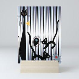 Mid-Century Modern Art - Cat & Kittens Mini Art Print