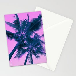 Palm Trees Pink Stationery Cards