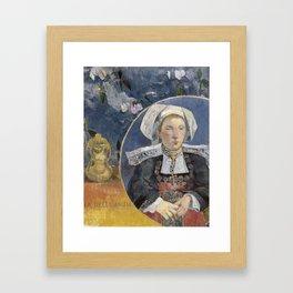 La Belle Angele by Paul Gauguin Framed Art Print