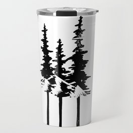 Trees and Compass Travel Mug