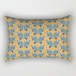 That's the badger! Yellow pattern Rectangular Pillow