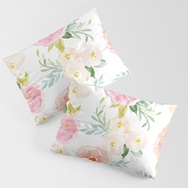 Sweet Pink Blooms (Floral 02) Pillow Sham