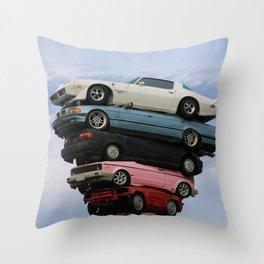 car pile Throw Pillow