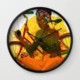 Essentia.Yellow Wall Clock