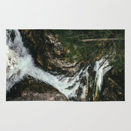 Waterfall In The Mountains Rug