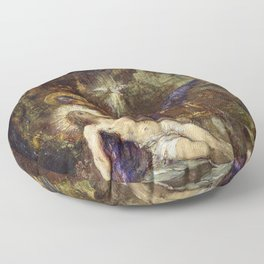 Gustave Moreau - Pieta - Digital Remastered Edition Floor Pillow