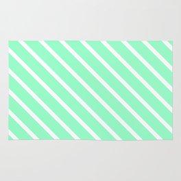 Mint Julep #2 Diagonal Stripes Rug