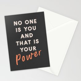 No One Is You Stationery Cards