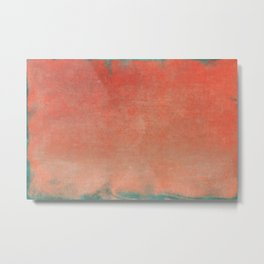 Minimal Abstract Orange Colorfield Painting 02 Metal Print