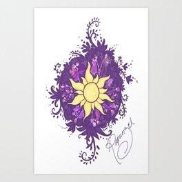Tangled: Rapunzel's Kingdom Dance Chalk Drawing Art Print