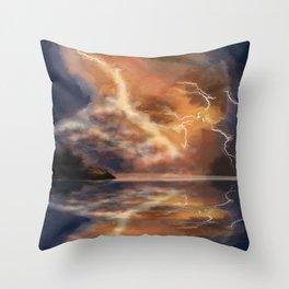 Lightning part 2 Throw Pillow