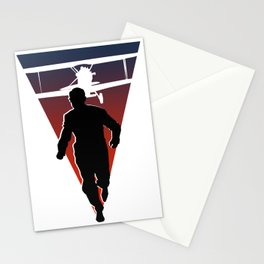 North By Northwest: Alfred Hitchcock + Cary Grant + plane = film classic Stationery Cards