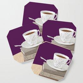 Teacup, Jane Austen, & Charlotte Brontë Books Coaster