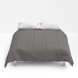 Cheap Solid Dark Ash Gray Color Comforters