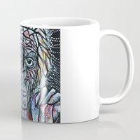 einstein Mugs featuring EINSTEIN by Art Book Of  Amanda