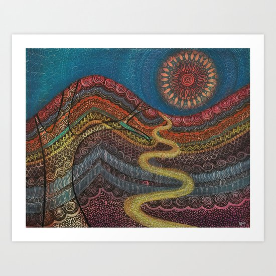 Andalucian Valley Art Print