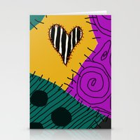 nightmare before christmas Stationery Cards featuring Sally - Nightmare Before Christmas by Lea Bostwick