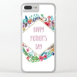 Mother's Day Bouquet Clear iPhone Case