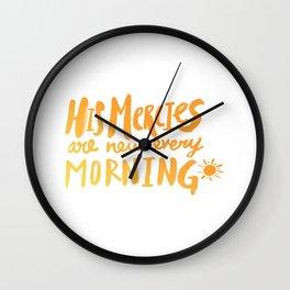 Mercy Morning Sunrise Wall Clock