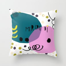 Mercredi Throw Pillow
