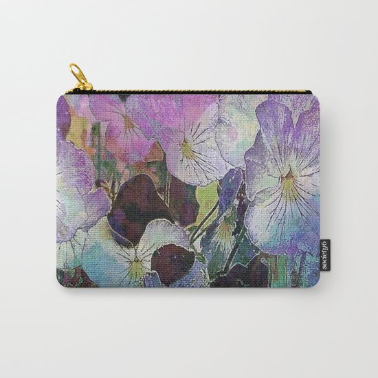 Pansies Purple Carry-All Pouch