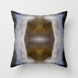 waterfall cave Throw Pillow