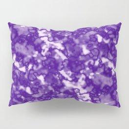 A fluttering cluster of violet bodies on a light background. Pillow Sham