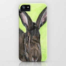 Tango the rescue rabbit iPhone Case