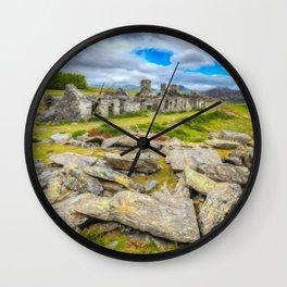 Rhos Quarry Cottages Snowdonia Wall Clock
