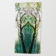 Bamboo Forest Geometry Beach Towel
