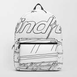 A day in Lodon - Line Art Backpack