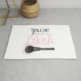 You're Making Me Blush Rug