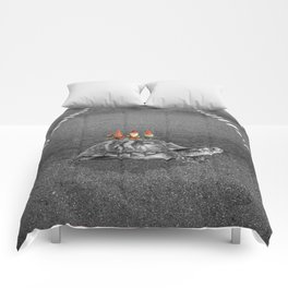gnomes on a turtle Comforters