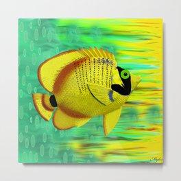 Angel Fish Yellow Metal Print