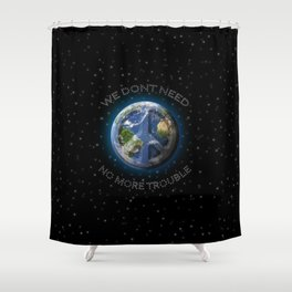 No Trouble Shower Curtain