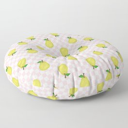 Checked Pears Floor Pillow