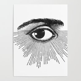 I See You. Black and White Poster