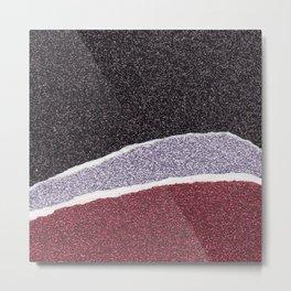 Glitter Paper Collage #5 Metal Print