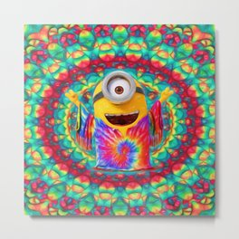 Minion Peace Metal Print
