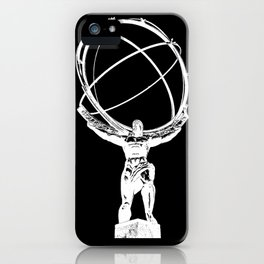 Atlas // Black iPhone Case