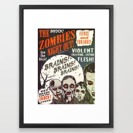 The Zombies Night Out! Framed Art Print